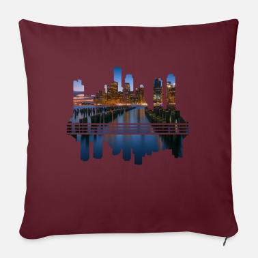 Megacity Megacity Skyline by Night - Sofa pillow with filling 45cm x 45cm