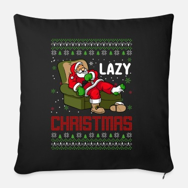 Moose Lazy Christmas Ugly Sweater Santa Claus - Sofa pillow with filling 45cm x 45cm