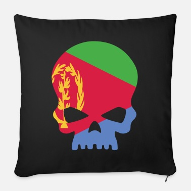 Capital Sugar Skull Eritrea - Sofa pillow with filling 45cm x 45cm