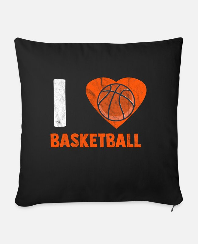 Free Throw Pillow Cases - Basketball love streetball rebound slamdunk - Sofa pillow with filling 45cm x 45cm black
