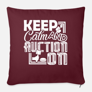 Auctions Auctioneer Auctioneer Keep Calm And Auction On - Sofa pillow with filling 45cm x 45cm