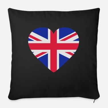 Uk Underwear Heart Britain - Sofa pillow with filling 45cm x 45cm