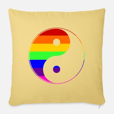 Sultry Gay Pride - Yin Yang - EN - Sofa pillow with filling 45cm x 45cm