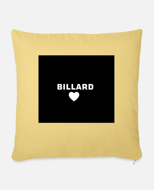 Garden Pillow Cases - mouthguard billiard love - Sofa pillow with filling 45cm x 45cm washed yellow