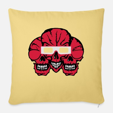 Eclipse Skull eclipse sun glasses eclipse - Sofa pillow with filling 45cm x 45cm