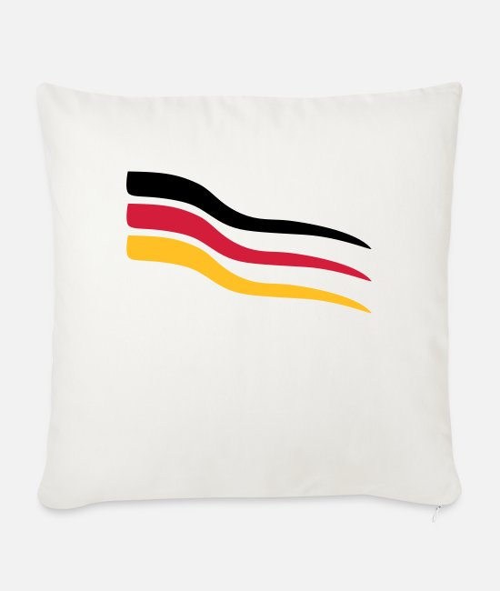Competition Pillow Cases - Design Germany - Sofa pillow with filling 45cm x 45cm natural white