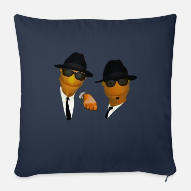 Brothers Blues Brothers puppets - Sofa pillow with filling 45cm x 45cm