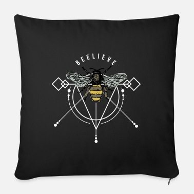Honey Bee wasp hornet honeycomb swag gift idea - Sofa pillow with filling 45cm x 45cm