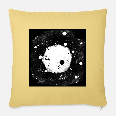 Black White Galaxey Black white universe - Sofa pillow with filling 45cm x 45cm