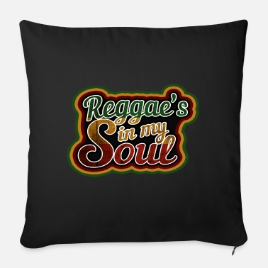 Marley reggae in my soul, Jamaica, Marley, Rasta - Sofa pillow with filling 45cm x 45cm