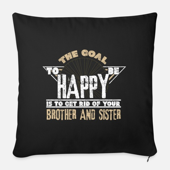Love Pillow Cases - siblings - Sofa pillow with filling 45cm x 45cm black