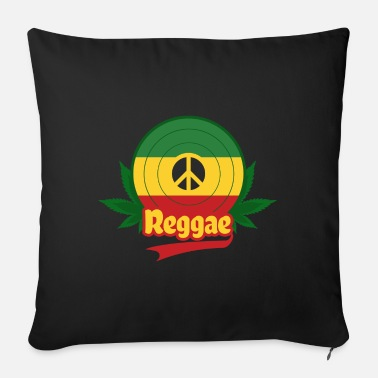 Rasta Reggae Vinyl Peace - Sofa pillow with filling 45cm x 45cm