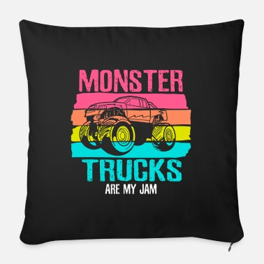 Monster Trucks Are My Jam - Sofa pillow with filling 45cm x 45cm