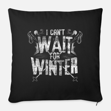 Winter Sports Ski steep slope winter - Sofa pillow with filling 45cm x 45cm