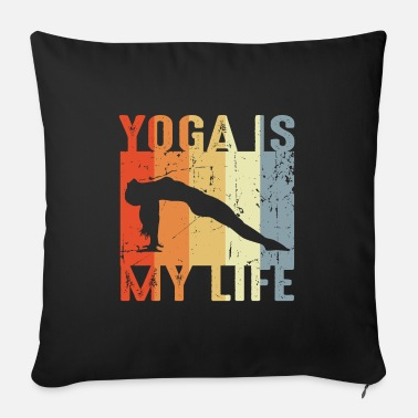 Mantra Yoga is my life - Sofa pillow with filling 45cm x 45cm