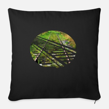 Tracks Track railroad track traffic - Sofa pillow with filling 45cm x 45cm