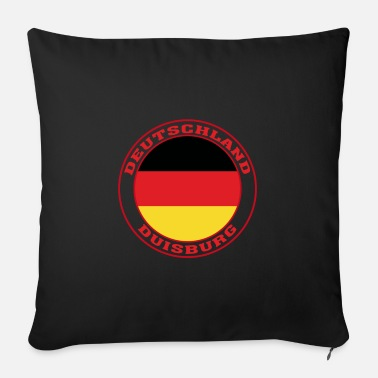 Travelling Duisburg Germany Flag Duisburg Deutschland - Sofa pillow with filling 45cm x 45cm