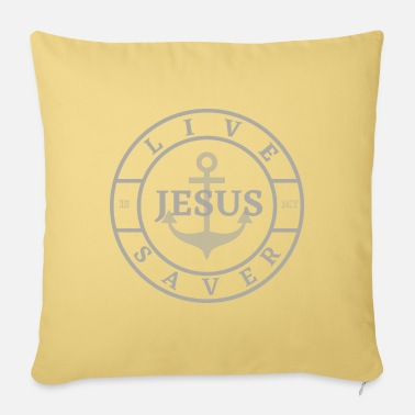 Life Saver jesus is my life saver - Sofa pillow with filling 45cm x 45cm
