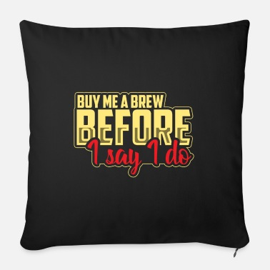 Team Bride Party beer - Sofa pillow with filling 45cm x 45cm