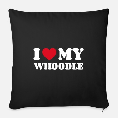 Doggie School I love my whoodle - Sofa pillow with filling 45cm x 45cm