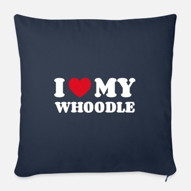 School I love my whoodle - Sofa pillow with filling 45cm x 45cm