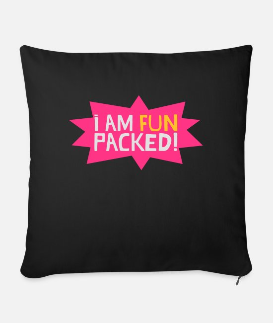 Neon Pillow Cases - Fun packed - Sofa pillow with filling 45cm x 45cm black