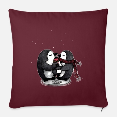 Cute penguin family - Sofa pillow with filling 45cm x 45cm