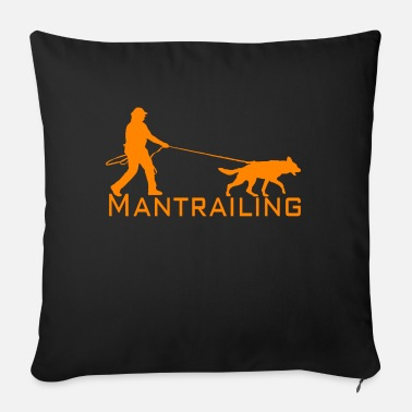 Man Trailer Mantrailing orange - Sofa pillow with filling 45cm x 45cm