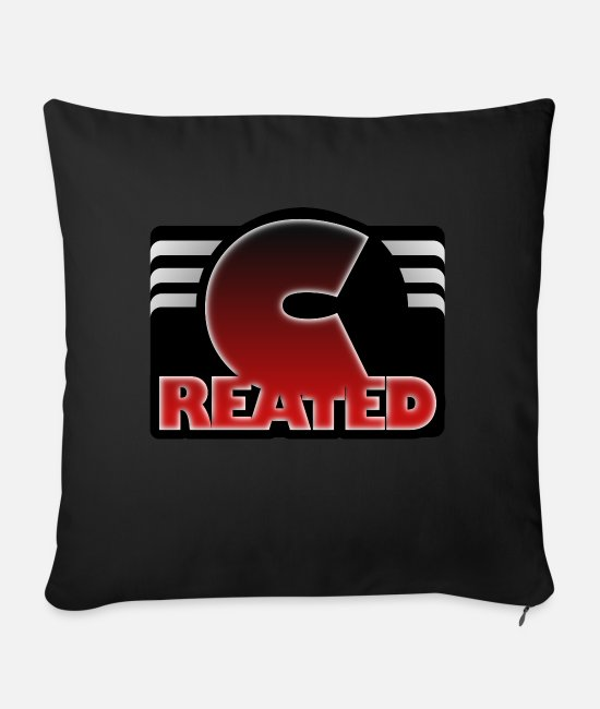 Rap Pillow Cases - Created - Sofa pillow with filling 45cm x 45cm black
