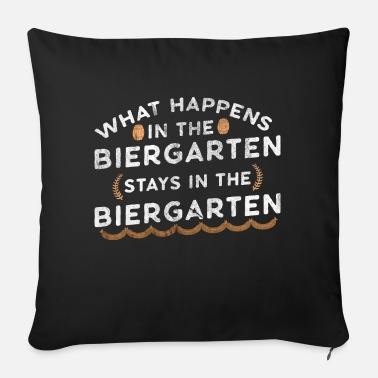 Beer Garden Oktoberfest Bavaria beer beer garden Beergarden - Sofa pillow with filling 45cm x 45cm