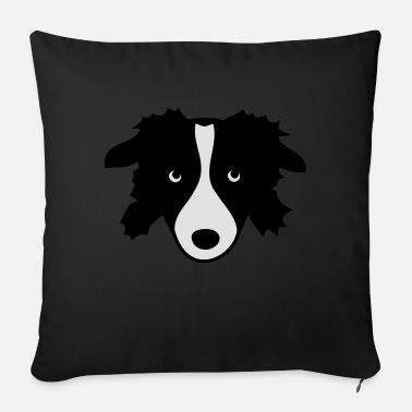 Border Collie Border Collie - Sofa pillow with filling 45cm x 45cm