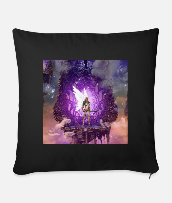 Sterren Pillow Cases - Angel in the sky - Sofa pillow with filling 45cm x 45cm black