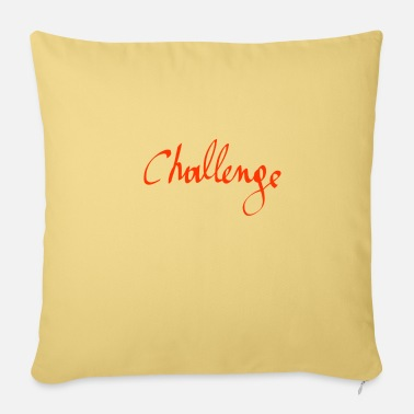 Challenging challenge - Sofa pillow with filling 45cm x 45cm