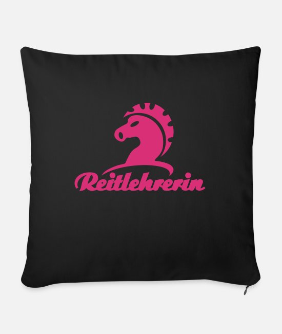 Design Pillow Cases - Reitlehrerin Vol.2 - Sofa pillow with filling 45cm x 45cm black