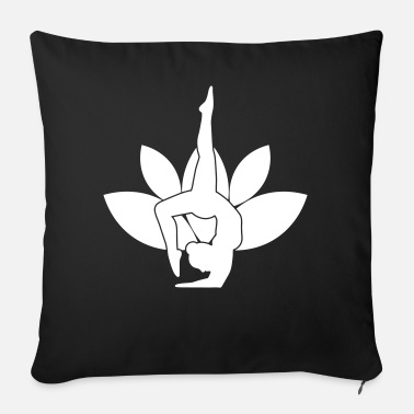 Yoga yogi lotus flower sport relaxation gift - Sofa pillow with filling 45cm x 45cm
