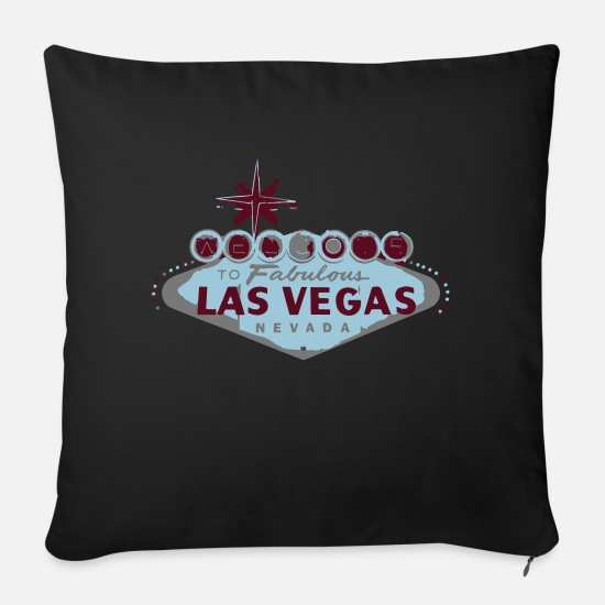 Vegas Pillow Cases - las vegas - Sofa pillow with filling 45cm x 45cm black