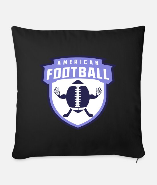Quarterback Pillow Cases - American Football Banner Peace - Sofa pillow with filling 45cm x 45cm black
