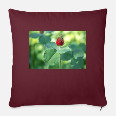 Clover Crimson Clover or Italian Clover Crimson Clover - Sofa pillow with filling 45cm x 45cm