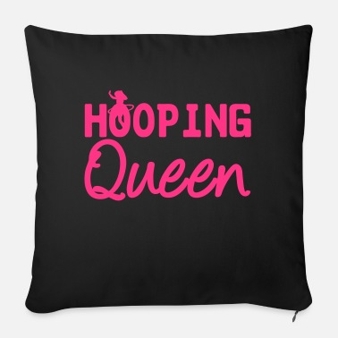 Hoop Hooping Queen (Hula Hoop) - Sofa pillow with filling 45cm x 45cm
