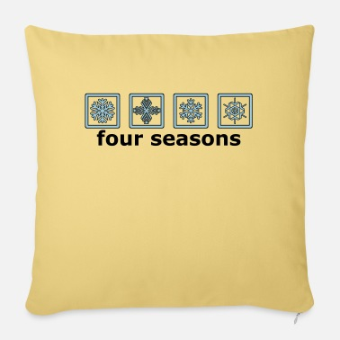 Pictograph The 4 winter times - Sofa pillow with filling 45cm x 45cm