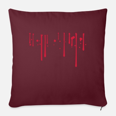 Blood Drop Blood drops - Sofa pillow with filling 45cm x 45cm