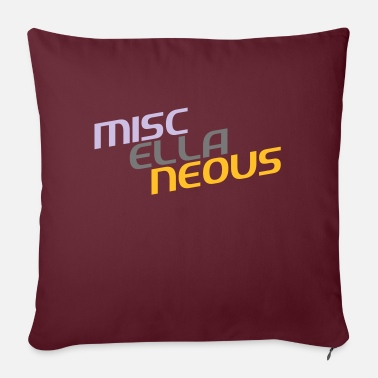 Miscellaneous miscellaneous english gift slogan colored motive - Sofa pillow with filling 45cm x 45cm