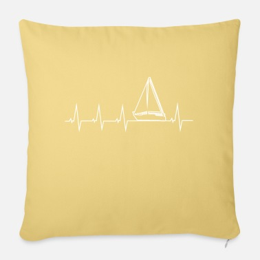 Sprinten I love sailing - heartbeat - Sofa pillow with filling 45cm x 45cm