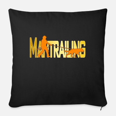 Man Trailer Mantrailing orange / gold - Sofa pillow with filling 45cm x 45cm