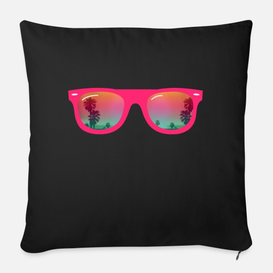 Sunglasses Pillow Cases - Sunglasses - Sunglasses - Sofa pillow with filling 45cm x 45cm black