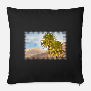 Blue Sky Motif: palm trees in the Jandíamassiv on Fuerteventura - Sofa pillow with filling 45cm x 45cm