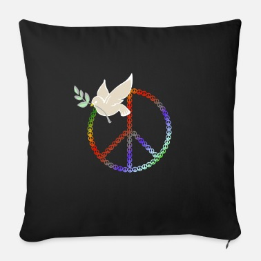 Peace Design | Dove with a branch - Sofa pillow with filling 45cm x 45cm