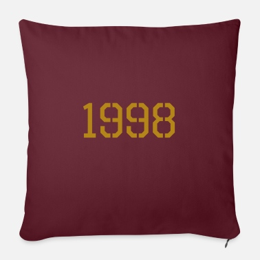 Production Year 1998 year of production gold - Sofa pillow with filling 45cm x 45cm