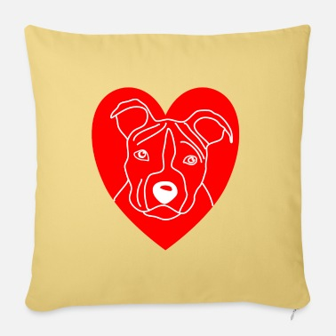 Wauzzi dog shirt, American Staffordshire Terrier heart dog - Sofa pillow with filling 45cm x 45cm