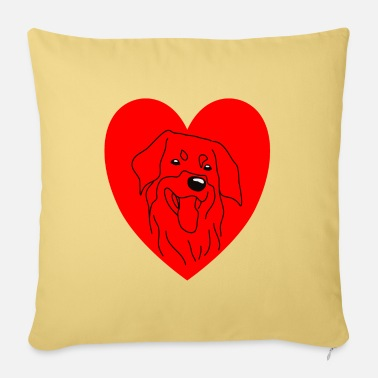 Wauzzi Hovawart dog dogshirt shirt heart love drawing - Sofa pillow with filling 45cm x 45cm